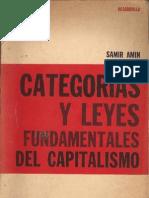 Categorías y Leyes Fundamentales del Capitalismo. Amin.