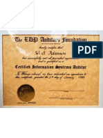 Walter Adamson EDP Auditors Association Certified Systems Auditor 1984