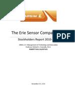 The Erie Sensor Company - Robert Paul Ellentuck