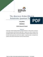 The Aharonov-Bohm Effect in Relativistic Quantum Theory