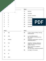 Proficiency 2013 Reading & Use of English Key