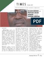 Abakwa Times Interviews Professor Carlson Anyangwe