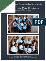 First Church of Seventh-day Adventist Adventurer Day Program
