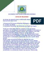 Dicionario de Angola-Kibumndo