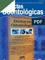 Actas Odontologicas Vol VIII No 1