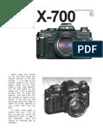 Minolta X-700 manual