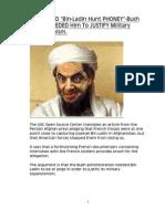CONFIRMED Bin Laden Hunt Phoney