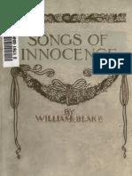 William Blake y the Songs of Innocence 01