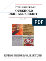 Fed Reserve Quarterly Rpt Household Debt and Credit Feb 2013
