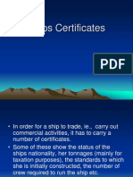 Ships Certificates