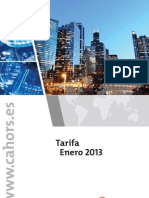 Cahors Tarifa Enero 2013 Factura Energía General