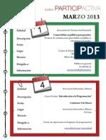 Agenda Participactiva Marzo