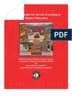 Service Learning in Higher Education Faculty Toolkit