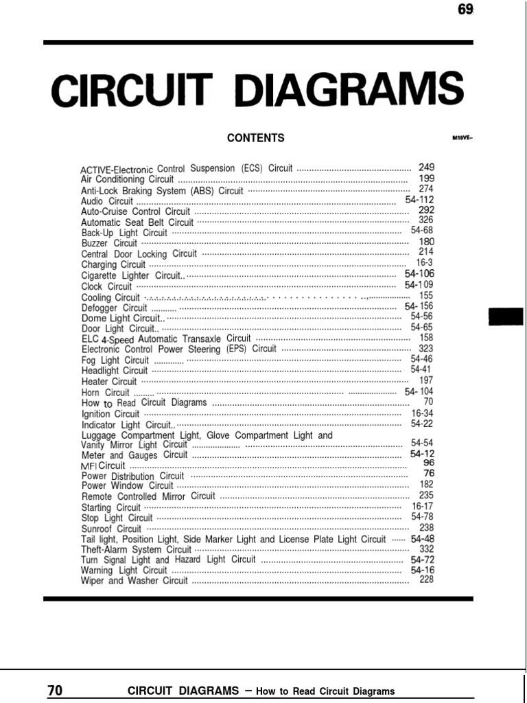 Mitsubishi Galant Circuit Diagram Pdf Fuel Injection Ignition System