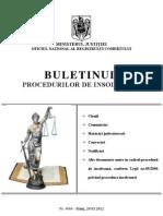 buletinul procedurilor de insolventa