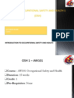 Chap1 Introduction to Occupational Safety Health