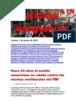 Noticias Uruguayas Viernes 1 de Marzo Del 2013