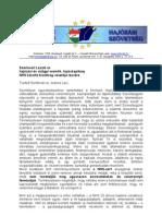 Somlóvári László részére 2013.02.27. - Levél a hajózási érdekek képviselete érdekében