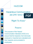 Hazcom Training Program