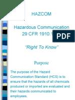 Hazcom Training Program