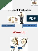 Textbook Evaluation