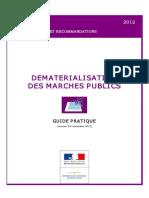 Guide Pratique De materialisation des Marchés publics