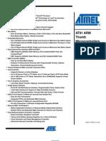 Atmel AT91SAM9263 Reference manual