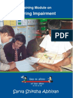 Training Module on Hearing Impairment