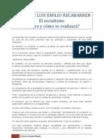El Socialismo. ¿Qué es y cómo se realizará?