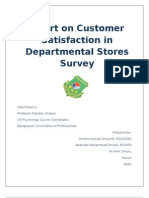 Survey report.dosurvey on customer satisfaction on departmental stores c