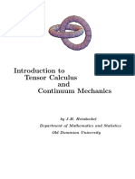 Heinbockel - Introduction to Tensors and Continuum Mechanics