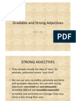 Gradable and Strong Adjectives