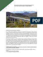 Analisis de competitividad específica en términos de potencial de transporte de mercancías por ferrocarril en redes de alta velocidad