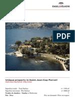 Exposé Unique property in Cap Ferrat