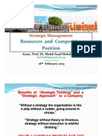 Strategic Management  - The Resources