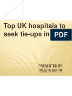 Top UK Hospitals to Seek Tie-ups in India