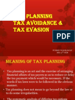Tax Planning Tax Avoidance &Tax Evasion