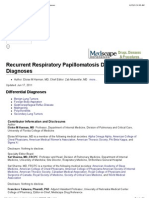 Recurrent Respiratory Papillomatosis Differential Diagnoses