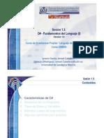 C# - Fundamentos del Lenguaje (I)