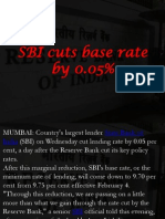 SBI Cuts Base Rate by 0.05%