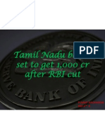 Tamil Nadu Banks Set to Get 1,000 Cr