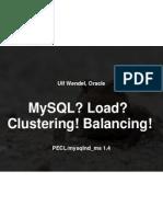 Mysql Nd Load Balancing