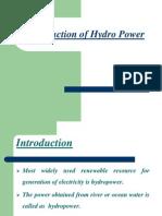Hydropower Plant Seminar