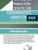 Retos de la formación docente de diferentes ámbitos Hector