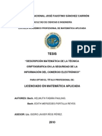 TESIS - DESCRIPCIÓN MATEMÁTICA DE LA TÉCNICA CRIPTOGRÁFICA EN LA SEGURIDAD DE LA INFORMACIÓN DEL COMERCIO ELECTRÓNICO I
