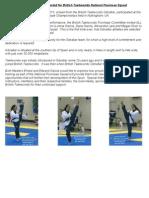 First Ever Gibraltar Athletes Selected for British Taekwondo National Poomsae Squad