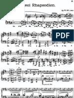 Brahms Rhapsodies Op.79