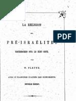 Pleyte, W. 'La Religion des Pré-Israelites' Leiden 1865