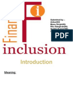 Financial Inclusion Ppt