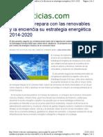 Andalucía prepara con las renovables y la eficiencia su estrategia energética 2014-2020